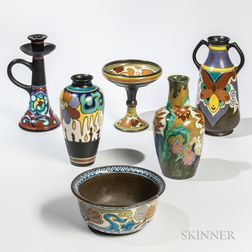 Six Dutch Pottery Items
