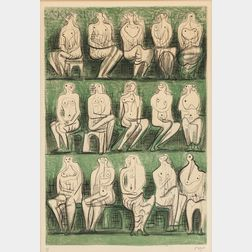 Henry Moore (British, 1898-1986)      Seated Figures