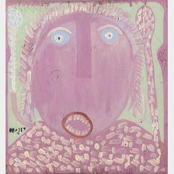 Mose Ernest Tolliver (American, 1919-2006)      Purple Headed Figure