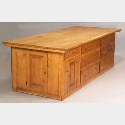 Shaker Maple and Pine Tailor's Counter