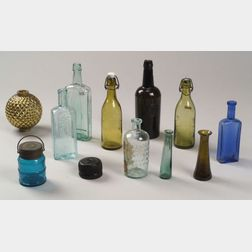 Twelve Early Glass Items