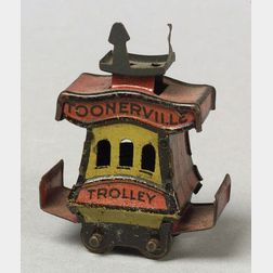 Miniature Lithographed Tin Toonerville Trolley Penny Toy