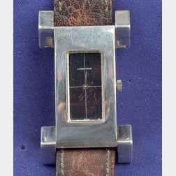 Gentleman's Sterling Silver Wristwatch, Longines