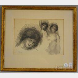After Pierre Auguste Renoir (French, 1841-1919)       La Pierre au Trois Croquis