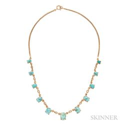 18kt Gold and Turquoise Necklace