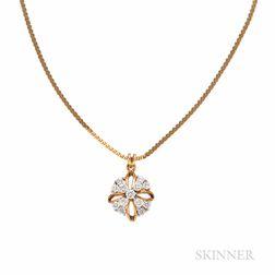 18kt Gold and Diamond Pendant