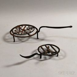 Small Wrought Iron Revolving Broiler and Grill
