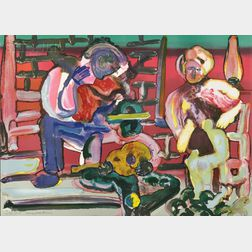 Romare Bearden (American, 1911-1988)      Louisiana Serenade
