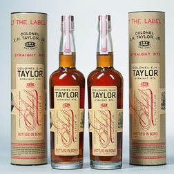 Colonel EH Taylor Straight Kentucky Rye Whiskey, 2 750ml bottles (ot)