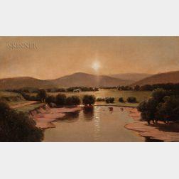 Lemuel Maynard Wiles (American, 1826-1905)      Genesee Valley Sunset