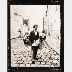 Eugène Atget (French, 1857-1927)      Marchand d'Abat-Jour, rue Lepic