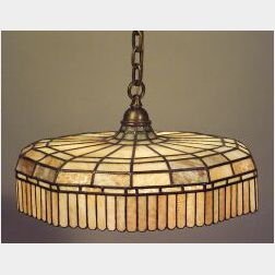 Handel Geometric Leaded Glass Hanging Shade