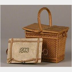 Two Miniature Baskets, one Dated 1873
