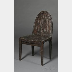 Northwest Coast Carved Wood Chair