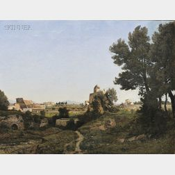 Henri-Joseph Harpignies (French, 1819-1916)      An Extensive View of Rome