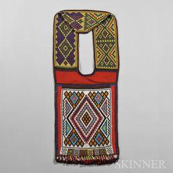 Great Lakes Loom-beaded Cloth Bandolier