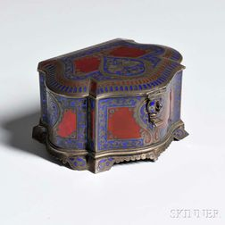 Russian .875 Silver and Champlevé Enamel Casket