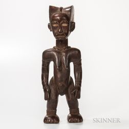 Fang-style Carved Wood Standing Female Figure