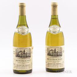 Chateau des Herbeux Montrachet 1982, 2 bottles