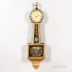 Mahogany and Gilt-gesso Patent Timepiece