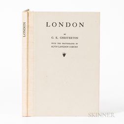 Chesterton, Gilbert Keith, (1874-1936) and Alvin Langdon Coburn (1882-1966) London.