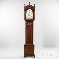 Newport Block and Shell Mahogany Tall Clock