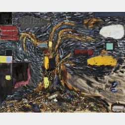 Joan Snyder (American, b. 1940)      Paint/Tree