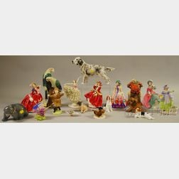 Eighteen Assorted Porcelain and Ceramic Collectible Figures
