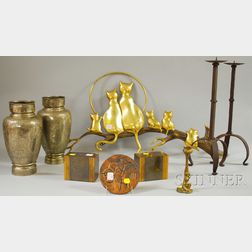 Group of Assorted Metal Decorative and Table Items