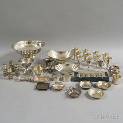 Group of Miscellaneous Sterling Silver Tableware