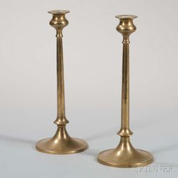 Pair of Arts and Crafts Candlesticks in the Manner of Jarvie