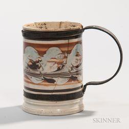 Creamware Pint Mug with Tinsmith's Make-do Repair