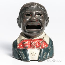 """Cast Iron """"Uncle Tom"""" Mechanical Bank"""