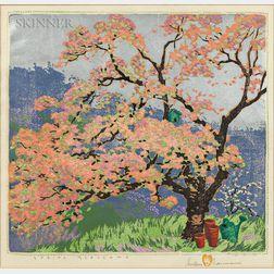 Gustave Baumann (German/American, 1881-1971)      Spring Blossoms
