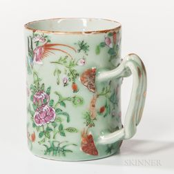 Export Porcelain Celadon-glazed Mug