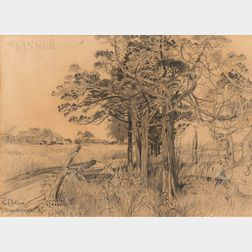 Harry Fenn (American, 1845-1911)      The Cedars of Manasquan