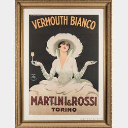 After Marcello Dudovich (Italian, 1878-1962)      Vermouth Bianco - Martini & Rossi