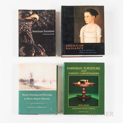 Large Collection of Reference Books, Catalogs, and Monographs on Pottery, Porcelain, Textiles, and American Decorative Arts
