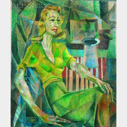 Edward Goldman (American, 1916-2006)    Lady in Green