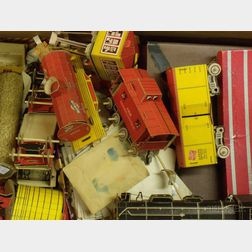 Lot of Paper Dolls and a Paper Freight Train