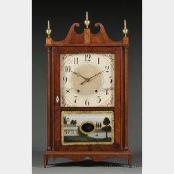 Eli Terry & Sons Mahogany Pillar & Scroll Shelf Clock