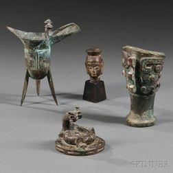 Four Archaic Bronze Items