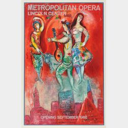 After Marc Chagall (French/Russian, 1887-1985)      Metropolitan Opera Lincoln Center