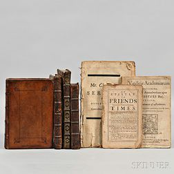 English Theological Works, 17th and 18th Century, Seven Octavo Volumes.