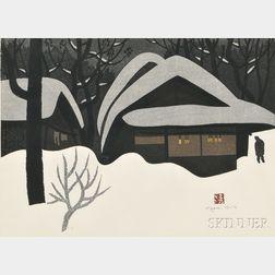 Kiyoshi Saito (1907-1997), Winter in Aizu 70's