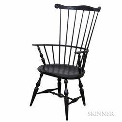 Eldred Wheeler Black-painted Comb-back Windsor Armchair