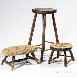 Four Wooden Stools