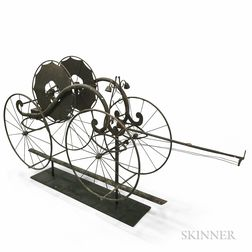 Wrought Iron Fire Wagon Weathervane