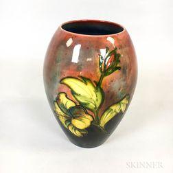 Moorcroft Pottery Hibiscus Vase