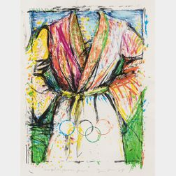 Jim Dine (American, b. 1935)      Untitled (Robe for the Korean Olympics)